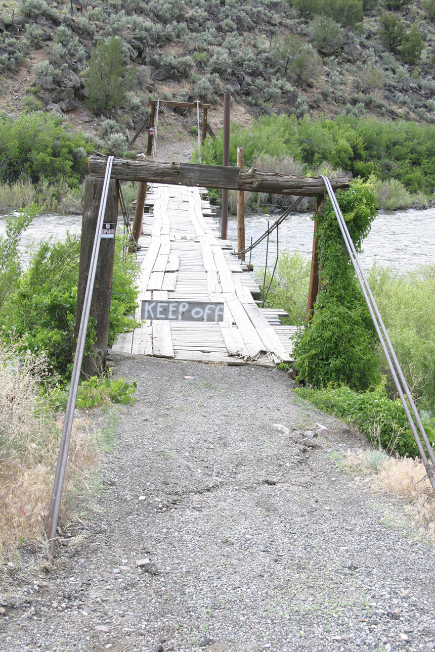 Swinging Bridge Hippy Bridge (?)
